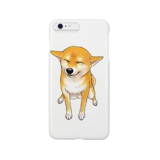 笑う柴犬 スマートフォンケース