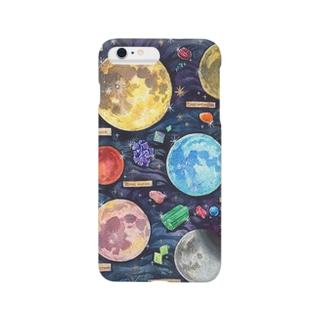 月と鉱物 Smartphone cases