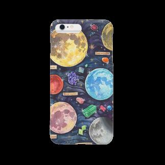 Coffret à bijouxの月と鉱物 Smartphone cases