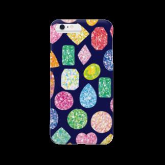 Coffret à bijouxの宝石のスマホケース(ネイビー) Smartphone cases