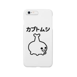 エナメルストア SUZURI店のカブトムシ Smartphone cases