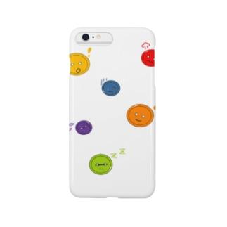 「ボタン(二つ穴)に表情を付けてみた」イラスト Smartphone cases