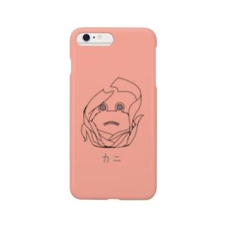 カニっぽいやつのスマホケース(赤) Smartphone cases