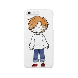 糸目のほのぼのさん Smartphone cases