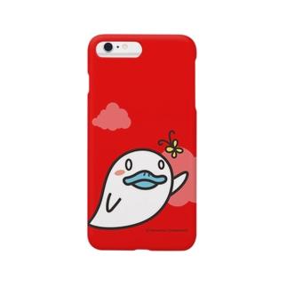 おばけあひる(Red) Smartphone cases