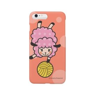 ヒツジのユイユイ(Pink) スマートフォンケース