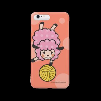 sheepshankのヒツジのユイユイ(Pink) Smartphone cases