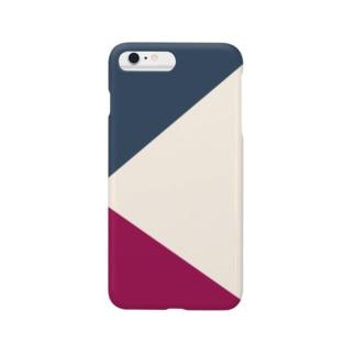 紺とワインレッド Smartphone cases
