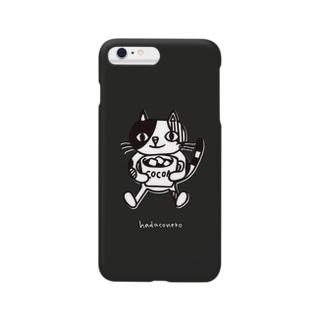 マシュマロココア(Black) iPhoneケース Smartphone cases