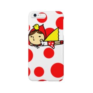 水玉赤ずきんさん Smartphone cases