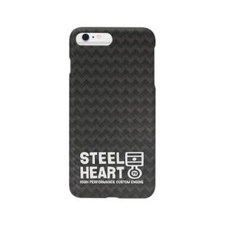 STEEL HEART 〜デフォルメピストンリング〜カーボン風 iPhone5/5s/6/6Plus Smartphone cases