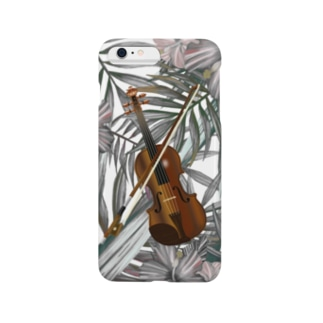 ヴァイオリン ボタニカル Smartphone cases