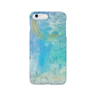 ムラナギ/青い夜、月の下で Smartphone cases