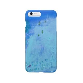 ムラナギ/ムーンドロップのカエル Smartphone cases