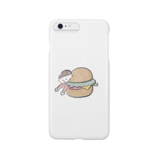 ハンバーガーに挟まれて。 Smartphone cases