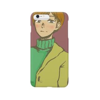 ショートカットタートルネック Smartphone cases
