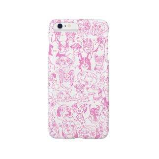 ラブドッグ ピンク スマートフォンケース