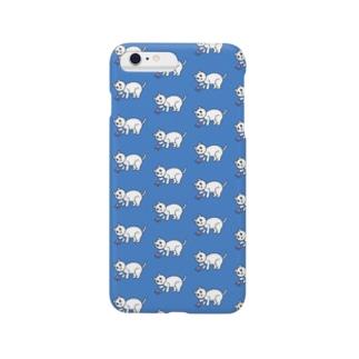 かわいいネネココ{ネネココいっぱい}ブルー Smartphone cases