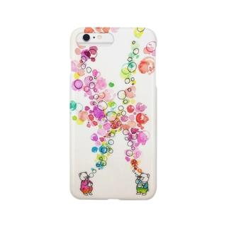 シャボン玉くまさん Smartphone cases