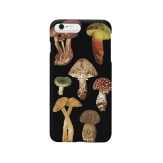 ひねもす屋 2号店のきのこ図鑑 Smartphone cases