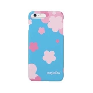 青空と桜 スマートフォンケース