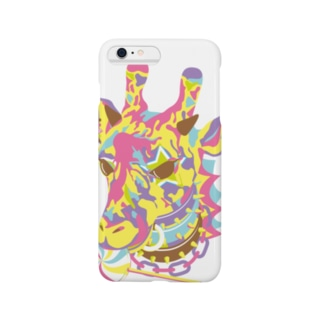 おしゃれ好きなキリン-アングリーパンク-パステル Smartphone cases