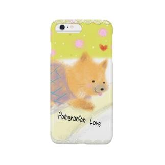 ミルクガム ポメラニアンちゃん♪ Smartphone cases