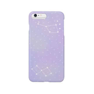 星砂の宇宙(purple) Smartphone cases