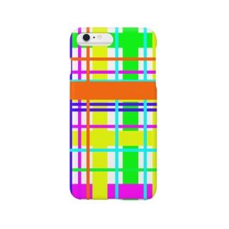カラフル(チェック) スマートフォンケース