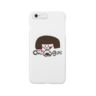 アイラブおにぎりgirl Smartphone cases