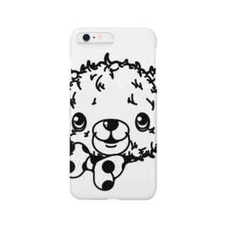 クマのブラウン-シンプル(うさぎのラビのお友達) Smartphone cases