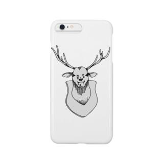 ニヤニヤした鹿さん Smartphone cases