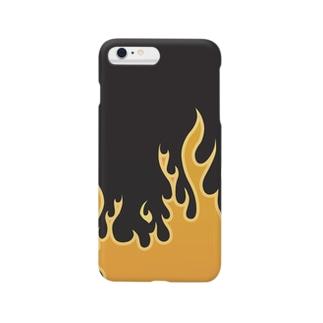 atticdesignのファイヤーパターン Smartphone cases