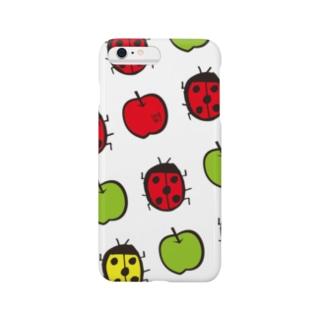 iPhone6plus用♡てんとうむし♡あおりんご スマートフォンケース