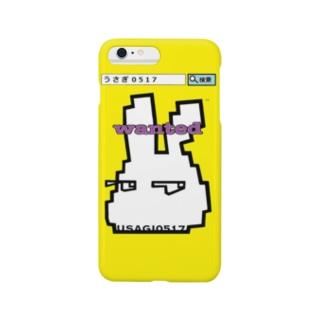 うさぎ0517★WANTED黄 Smartphone cases