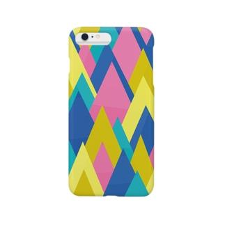 山々(刺激的な色あい) Smartphone cases