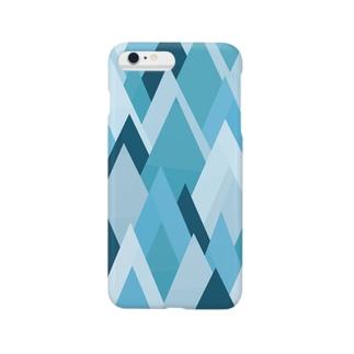 山々(シックな色合い) Smartphone cases