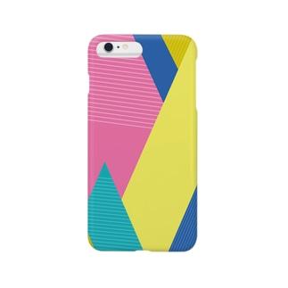 山々(刺激的な色あい)カッティング Smartphone cases
