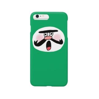 wakameだるま_GREEN Smartphone cases