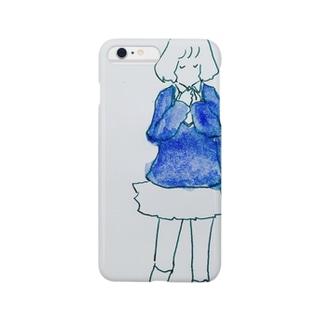 物思う女の子 Smartphone cases