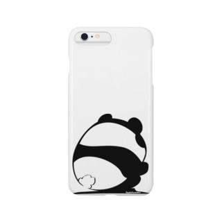 しゃがみパンダ Smartphone cases
