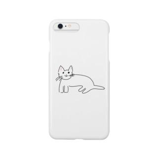 おばあちゃんが描いた猫ちょん Smartphone cases