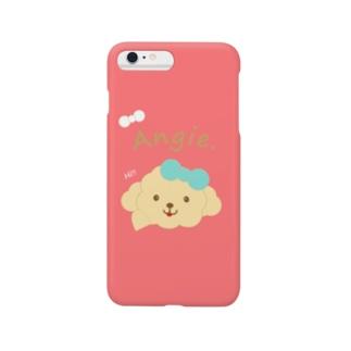 トイプードル犬【アンジー】iphoneアイフォンケースピンク Smartphone cases