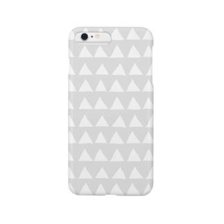さんかく(グレイ) Smartphone cases