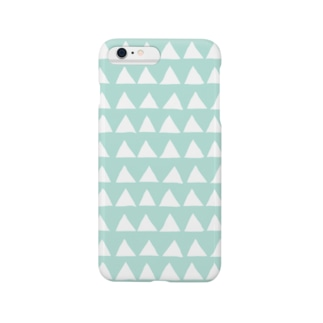 さんかく(ミント) Smartphone cases