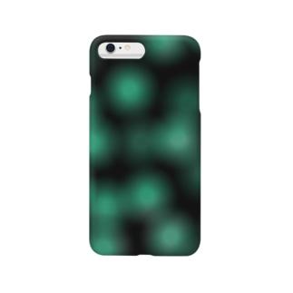 ぼかしアイテム[Black-Green] Smartphone cases