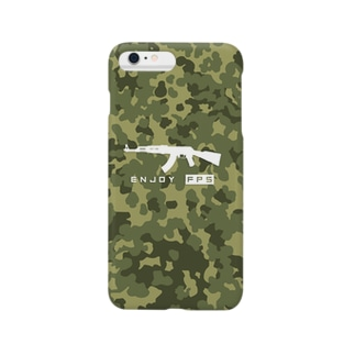 Enjoy FPS!(迷彩柄) Smartphone cases