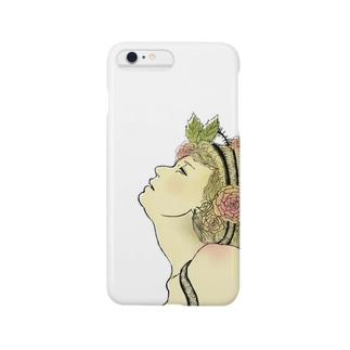 草花と少女 Smartphone cases