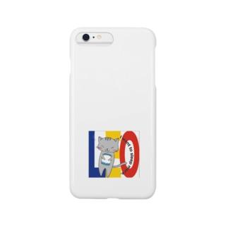 暴れにゃんこのレオ Smartphone cases