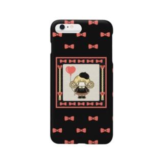 ドンナコ・ショップ SUZURI出張店のおめかしちゃん(スマートフォンケース) Smartphone cases